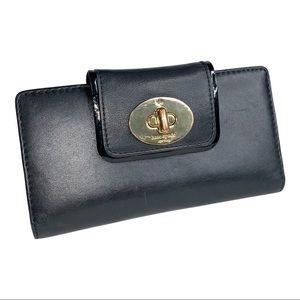 Kate Spade Black Hampton Rd Stacy Turnlock Wallet